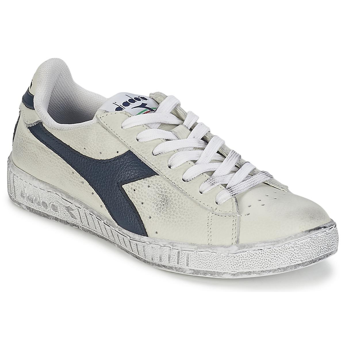Sneakers basse Diadora GAME L LOW WAXED Bianco / Blu - Consegna