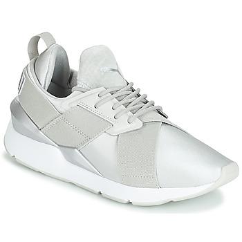 Scarpe Donna Sneakers basse Puma WN MUSE SATIN II.GRAY Grigio