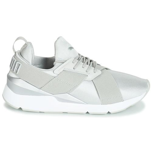 Ii Basse Wn gray Puma Sneakers Satin Muse Donna Grigio thrsQdC