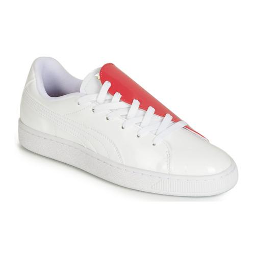 Scarpe Donna Sneakers basse Puma WN BASKET CRUSH.WH-HIBISCU Bianco