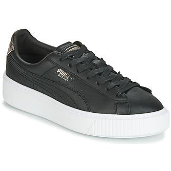 Scarpe Donna Sneakers basse Puma WN SUEDE PLATFM OPULENT.BL Nero