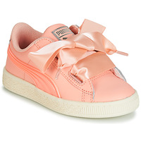 Scarpe Bambina Sneakers basse Puma PS BASKET HEART JELLY.PEAC Rosa