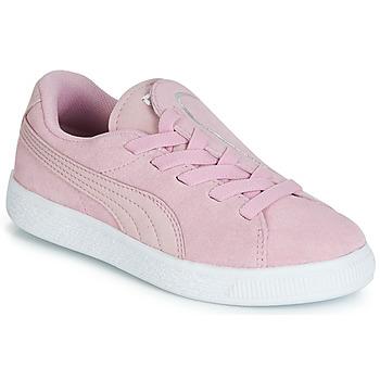 Scarpe Bambina Sneakers basse Puma PS SUEDE CRUSH AC.LILAC Lila