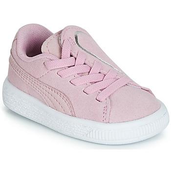 Scarpe Bambina Sneakers basse Puma INF SUEDE CRUSH AC.LILAC Lila