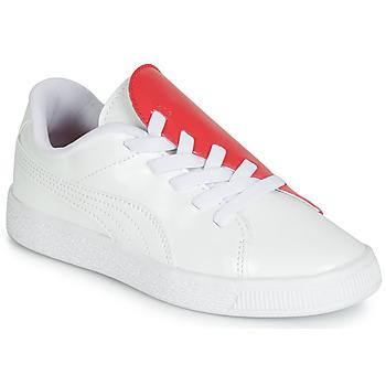 Scarpe Bambina Sneakers basse Puma PS BKT CRUSH PATENT AC.W-H Bianco