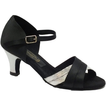 Scarpe Donna Sandali Vitiello Dance Shoes Scarpa da donna per ballo latino-americano in raso nero e satina Nero