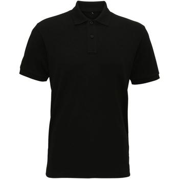 Abbigliamento Uomo Polo maniche corte Asquith & Fox AQ005 Nero