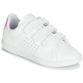 Scarpe Bambina Sneakers basse Le Coq Sportif COURTSET PS Bianco / Rosa
