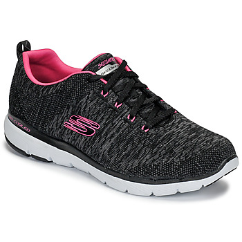 Scarpe Donna Fitness / Training Skechers FLEX APPEAL 3.0 Nero / Rosa