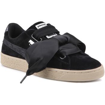 Scarpe Donna Sneakers basse Puma Lifestyle shoes   Suede Heart Safari Wns 364083 03 black