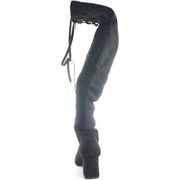 Scarpe Donna Stivali a metà coscia Malu Shoes Stivali alti donna art:PE3455 moda collezione autunno-inverno g NERO