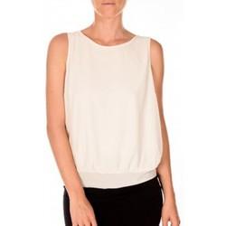 Abbigliamento Donna Top / T-shirt senza maniche Vero Moda BELFAST SL TOP EA écru Beige
