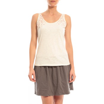 Abbigliamento Donna Top / T-shirt senza maniche Blune Débardeur Lendemain de fête LF-DF01E13 Écru Beige
