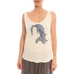 Abbigliamento Donna Top / T-shirt senza maniche Blune Débardeur Superpower SP-DF01E13 Écru Beige