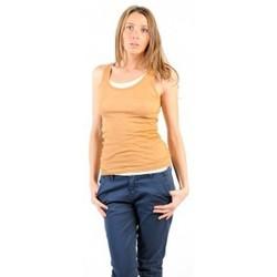 Abbigliamento Donna Top / T-shirt senza maniche American Vintage DEBARDEUR MAS00E11 CUMIN Giallo