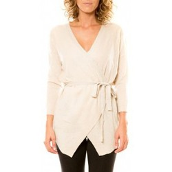 Abbigliamento Donna Gilet / Cardigan Vision De Reve Vision de Rêve Cardigan 12040 Écru Beige