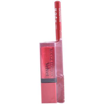 Bellezza Donna Rossetti Bourjois Rouge Edition Velvet Lipstick 13+contour Lipliner 6 Gratis 2