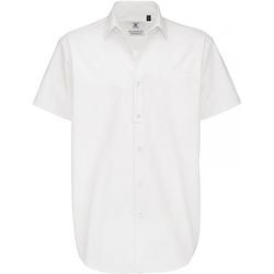 Abbigliamento Uomo Camicie maniche corte B And C Sharp Bianco