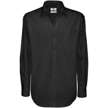 Abbigliamento Uomo Camicie maniche lunghe B And C SMT81 Nero