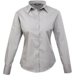 Abbigliamento Donna Camicie Premier PR300 Argento