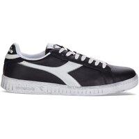 Scarpe Sneakers basse Diadora Sport GAME L LOW WAXED C0641 - NERO-BIANCO