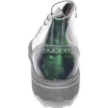 Scarpe Uomo Stivaletti Made In Italia Polacchino scarpe uomo tomaia in vera pelle abrasivato verde sp VERDE