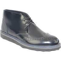 Scarpe Uomo Stivaletti Made In Italy Polacchino scarpe uomo man tomaia in vera pelle abrasivato nero NERO