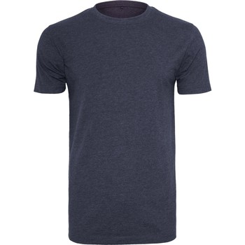 Abbigliamento Uomo T-shirt maniche corte Build Your Brand BY004 Blu navy