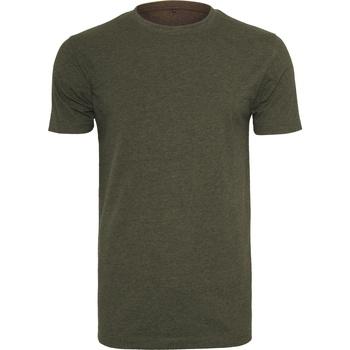 Abbigliamento Uomo T-shirt maniche corte Build Your Brand BY004 Oliva