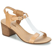 Scarpe Donna Sandali Betty London GANTOMI CAMEL / Bianco
