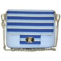 Borse Donna Borse a spalla O Bag Borsa O pocket  con pattina a righe blu e tracolla Altri
