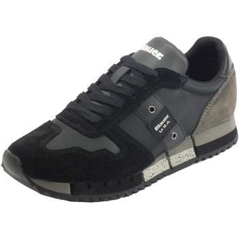 Scarpe Donna Sneakers basse Blauer Sneakers  donna Melrose in tessuto e camoscio nero Black