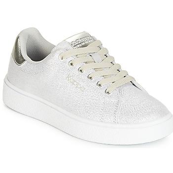 Scarpe Bambina Sneakers basse Kappa SAN REMO KID Bianco / Argento