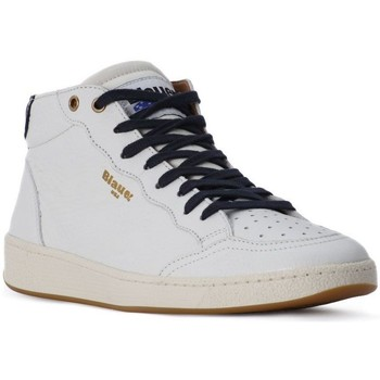 Scarpe Uomo Sneakers alte Blauer WHITE MURRAY HI Bianco