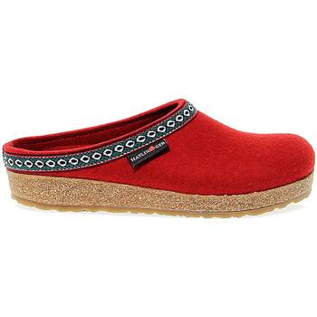 Scarpe Donna Zoccoli Haflinger Sandalo basso  FRANZL RUBIN WOLLFILZ in tessuto rubino rosso