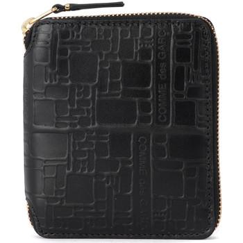 Borse Donna Portafogli Comme Des Garcons Portafoglio  in pelle nera stampata Nero