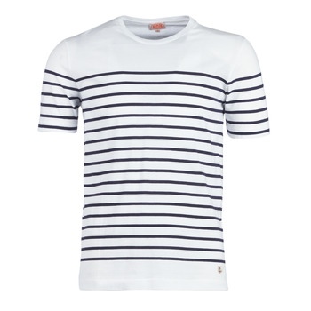 Abbigliamento Uomo T-shirt maniche corte Armor Lux YAYALOUT Bianco / Marine