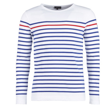 Abbigliamento Uomo T-shirts a maniche lunghe Armor Lux YAYAYOUT Bianco / Blu / Rosso