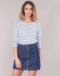 Abbigliamento Donna T-shirts a maniche lunghe Armor Lux YAYAROULE Bianco / Blu