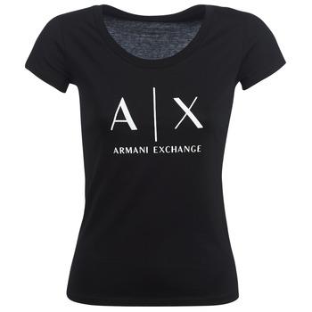 Abbigliamento Donna T-shirt maniche corte Armani Exchange HELBATANTE Nero