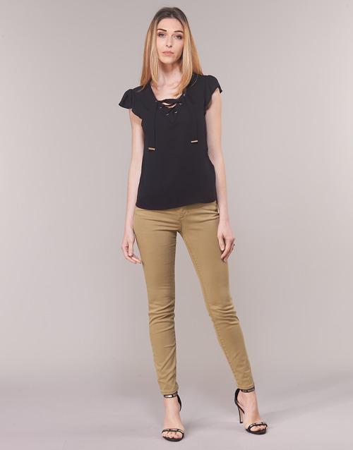 Abbigliamento Donna Pantaloni 5 tasche Armani Exchange HELBIRO Beige