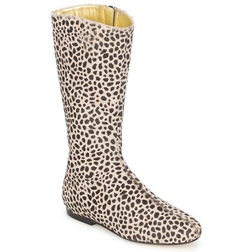 French Sole PATCH Leopard Scarpe Stivali Donna 199,50