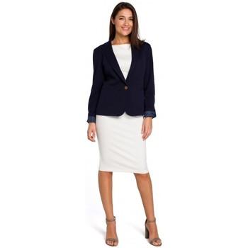 Abbigliamento Donna Vestiti Style S154 Blazer a un bottone - blu navy