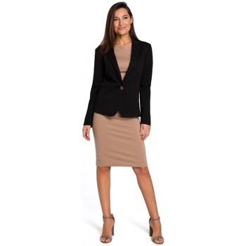 Abbigliamento Donna Vestiti Style S154 Blazer a un bottone - nero