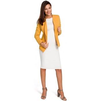Abbigliamento Donna Giacche / Blazer Style S140 Blazer sartoriale con zip - giallo