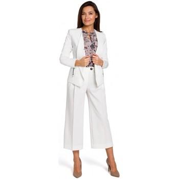 Abbigliamento Donna Tuta jumpsuit / Salopette Style S140 Blazer sartoriale con zip - ecru