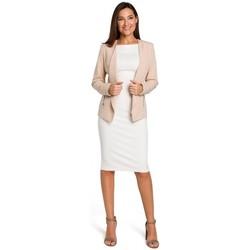 Abbigliamento Donna Tuta jumpsuit / Salopette Style S140 Blazer sartoriale con zip - beige
