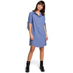 Abbigliamento Donna Vestiti Be B112 Tunica con colletto e maniche legate - blu