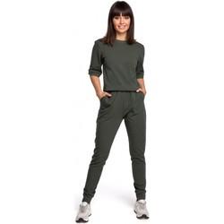 Abbigliamento Donna Tuta jumpsuit / Salopette Be B104 Tuta con scollo a V e schiena, blu navy