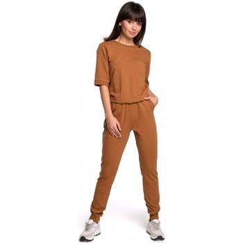 Abbigliamento Donna Tuta jumpsuit / Salopette Be B104 tuta con scollo a V - verde militare